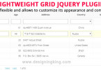 jsGrid : jQuery Plugin for client-side data grid control
